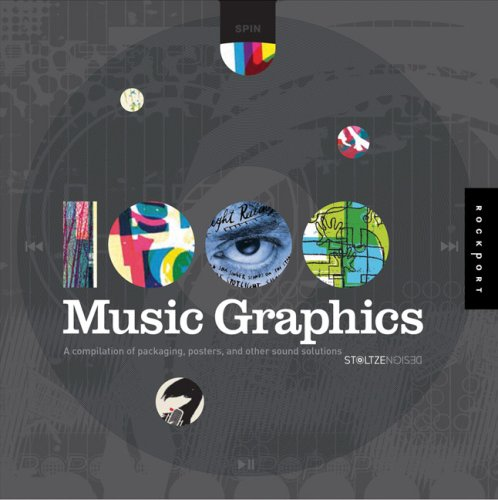 Cover of 1 000 Music Graphics  A compilation of packaging  posters  and other sound solutions