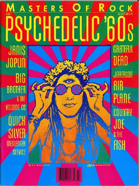Cover of Masters of Rock  Issue 7  Psychedelic  60s